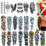 Full Arm Temporary Tattoos 20 Sheets,Tattoo Sleeves for Men and Women Waterproof Fashion Removable Extra Large Temporary Tattoos Stickers (Color: Full Arm Tattoos tattoos sleeves for men)
