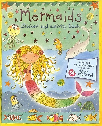 "Mermaids Sticker & Fun-Filled Activity Book! Dot To Dots, Mazes! Puzzles! 11"" X 8"" 18 High Quality Pages (2 Of 50+ Stickers!!) back-933330"