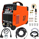 Plasma Cutter, 50A Inverter AC-DC IGBT Dual Voltage (110/220V) Cut50 Portable Cutting Welding Machine With Intelligent Digital Display With Free Accessories Easy Cutter Welder(Orange) (Color: orange plasma cutter)