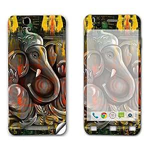 Skintice Designer Mobile Skin Sticker for Lava Iris X1, Design - Ganesha