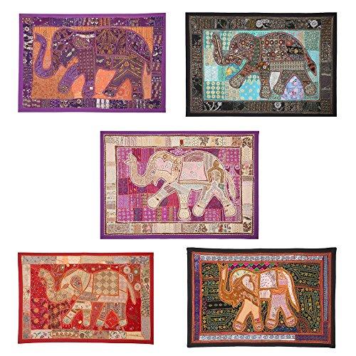 Lotto all' ingrosso di 10PCS Patchwork Elefante Stile Da Appendere 152,4x 101,6cm