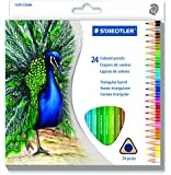 STAEDTLER Triangular Coloured Pencil, 24 Pack (1270 C24A6)