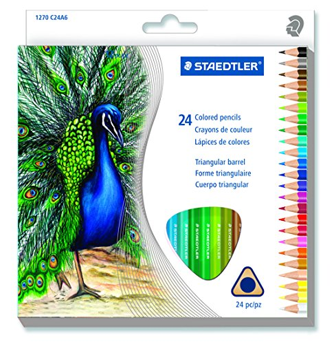 Staedtler 24CT Triangular Colored Pencils (1270 C24A603ID)