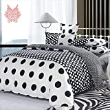 Black/white abstract geometric Print blushed duvet cover Bed sheet Pillowcase 4pcs/set Home textile SP1739