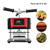 ETE ETMATE 2 Ton Hydraulic Jack Heat Press - 2.4x4.7 Inch Anodized Heat Press Plates - Dual Heating Machine - Accurate Temp Detected (Color: Type C)