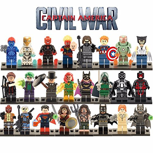 24pcs/lot Marvel Minifigures Figures Toy The Avengers Super Heroes Justice League X-Men Legoesd (Custom Marvel Legends compare prices)