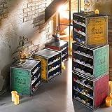 Weinregale-Weinkisten-Set-Claire-stapelbar-Shabby-Chic-Holz-ca-B36-x-T32-x-H39-cm-3er-Set-1-x-rot-1-x-grn-1-x-gelb