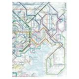 東京カートグラフィック 鉄道路線図クリアファイル 首都圏 英語 RFSE