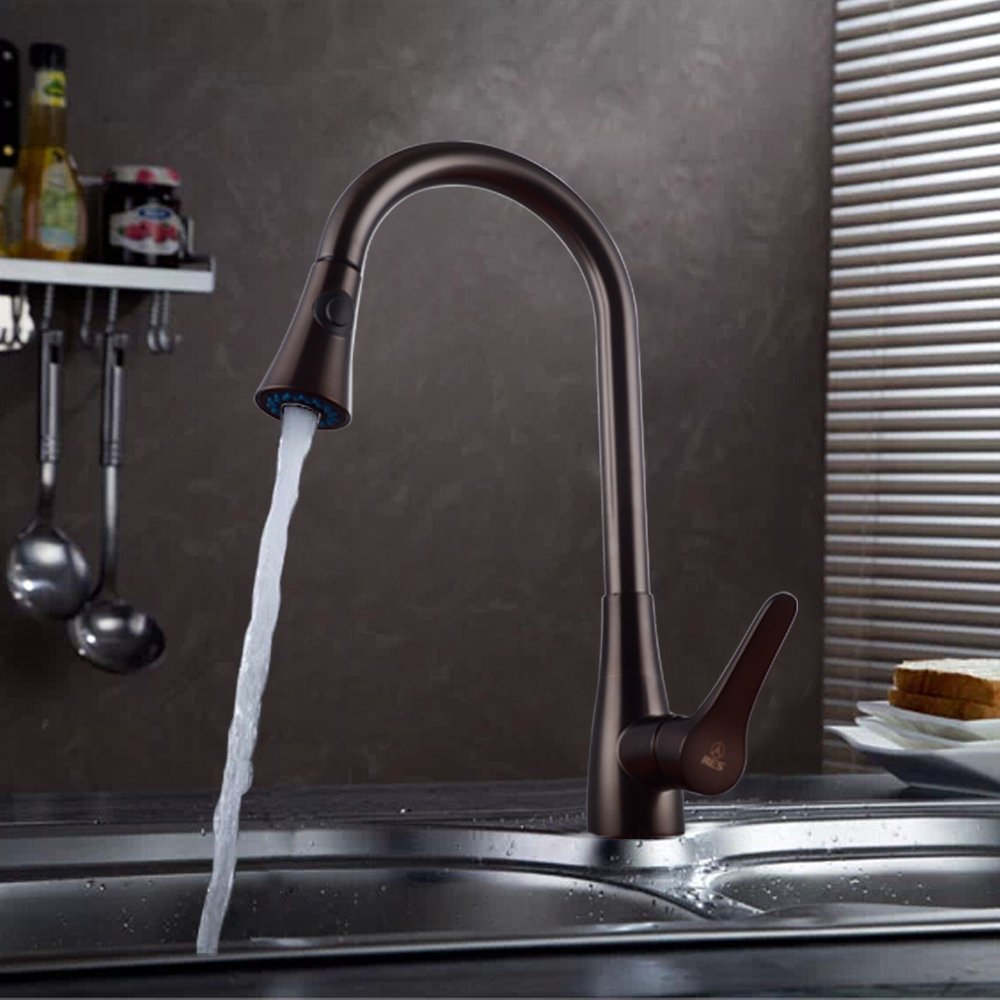 Single Handle Pull Out Kitchen Sink Faucet