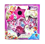 Dream Girl Princess Star Case Pretend Play Toy Make Up Kit, Safety Tested, Formulated for Children