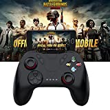 Leoie Mobile Game Controller,Wireless Bluetooth Gamepad Remote Control Joystick for PUBG IOS/Android Phone/Samsung Gear VR/Tablet/TV Box/Emulator(Without Bracket)