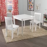 KidKraft Square Table & 2 Avalon Chair Set, White