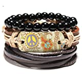 PHLPXL Multilayer Men Bracelets Weave Wrap Boho Charms Bracelets & Bangles Men Vintage Jewelry
