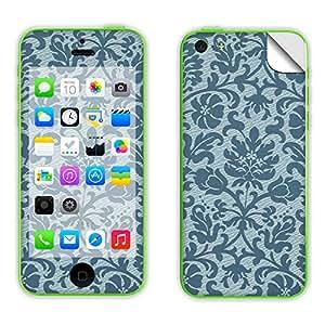 Skintice Designer Mobile Skin Sticker for Apple iPhone 5c, Design - Blue Floral Pattern