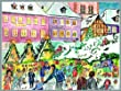 People at a Christmas Market German Advent Calendar Made in Germany Countdown