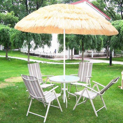 P&G Market 6Ft Hula Thatched Tiki Umbrella