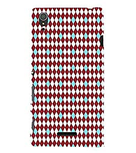 iFasho Animated Pattern design colorful in royal style Back Case Cover for Sony Xperia T3