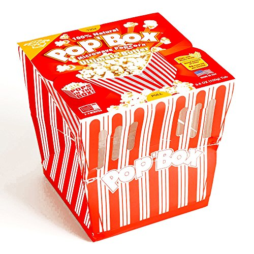 Pop Box Extra Butter Popcorn 3.5 oz each (3 Items Per Order) (Popbox Popcorn compare prices)
