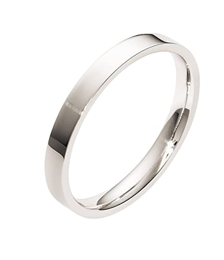 Sterling Silver, Flat Comfort Fit 3MM Wedding Band (sz H to Z3)