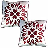 Belive-Me Royal Velvet White Cushion Covers (Set Of 2)