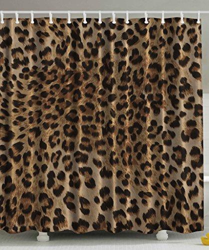Bathroom Accessories Sexy Leopard Nearly Natural Wildlife Fabric Shower Curtain Safari Decorations Big Cat Fur Skin Animal Print Black Brown Beige Pattern Home Bath Decor Art (Animal Shower Decorations compare prices)
