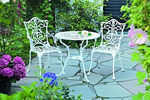 3tlg Gartenmobelset 2 Gartenstuhle Gartentisch 21110 Aluguss