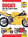 Ducati 748  916   996 V Twins  94 to  01  Haynes Service   Repair Manual