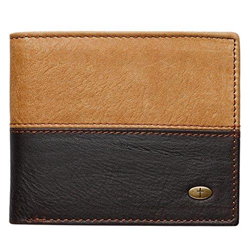 Two-Tone-Genuine-Leather-Wallet-wCross-Stud