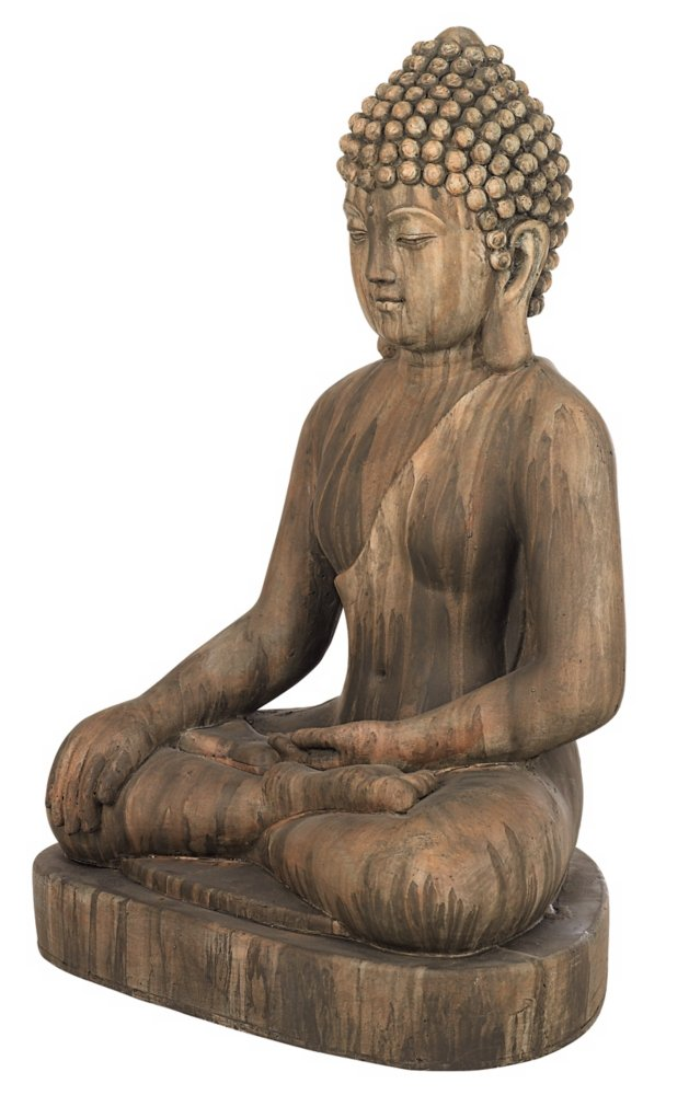 "Sitting Buddha Faux Sandstone 29 1/2""H Outdoor Statue"