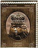 Sellos de oro - Staffa 1977 Reina Silver Jubilee rey Jorge I 23k sello de la hoja de oro - alta calidad - Nunca montado - Nunca bisagras