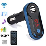 Creazy Bluetooth Wireless FM Transmitter MP3 Player Handsfree Car Kit USB TF SD Remote