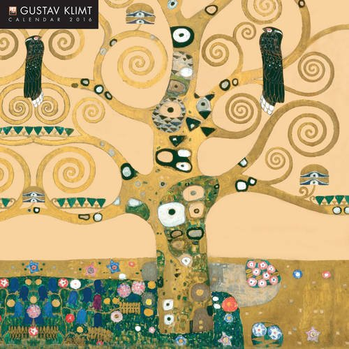 Gustav Klimt 2016 Square 12x12 (Glitter Cover) Flame Tree