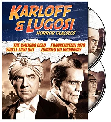 Karloff & Lugosi Horror Classics (The Walking Dead / Frankenstein 1970 / You'll Find Out / Zombies on Broadway)