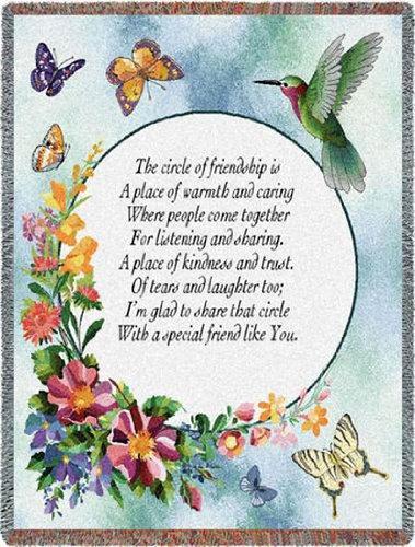 Circle of Friendship Throw - 70 x 54 Blanket/Throw