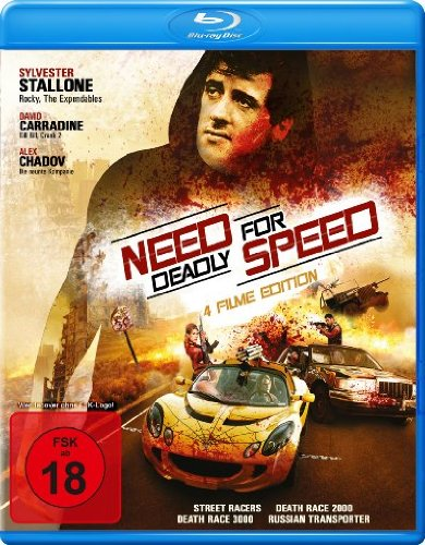 Need for Deadly Speed (4 Filme Edition: Street Racer / Death Race 2000 / Death Race 3000 & Russian Transporter) [Blu-ray]