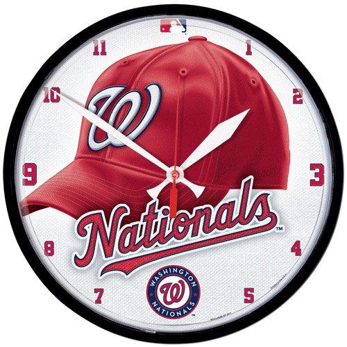 MLB Washington Nationals Round Clock