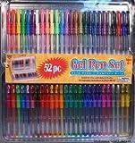 52 GEL Pens W/comfort Grips & Tin Storage Case!