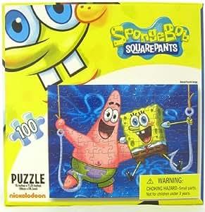 Amazon.com: SpongeBob Squarepants 100 Piece Puzzle - On ...