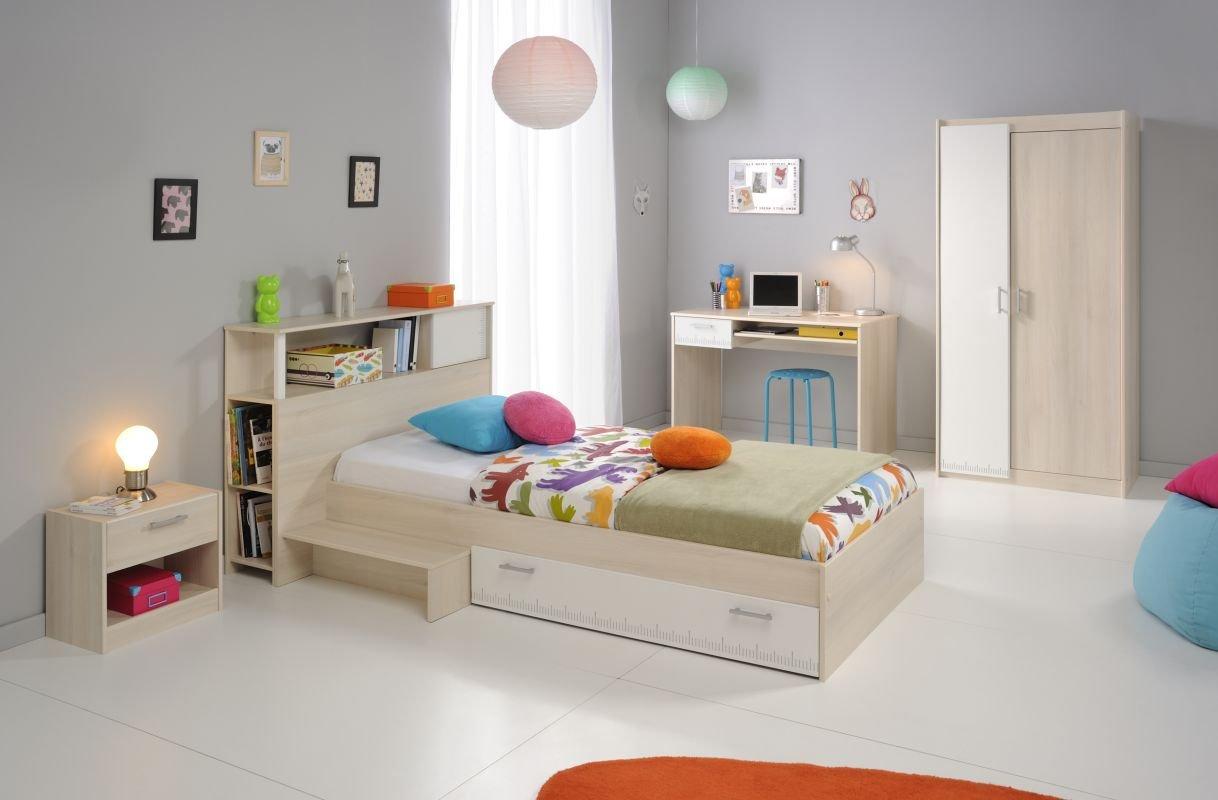 Parisot Kinderzimmermöbel-Set 3tlg. Charly 15 Kinderzimmermöbel-Set 3tlg. in der Farbe Akazie / Weiss Melamin jetzt kaufen