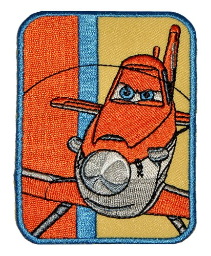 Disney Planes Sprühflugzeug Dusty 6,5 cm * 8,9 cm Bügelbild - Aufnäher Applikation Flugzeug Piper Pawnee