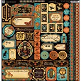 Graphic 45 Steampunk Spells 12x12 Stickers