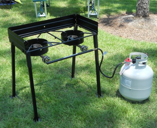 King kooker cs29 30 inch two burner outdoor cook stove for Fish cooker burner