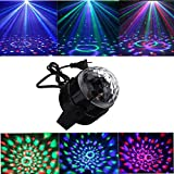 Disco Ball Stage Lighting ,Sound Activated Mini Party Light with 3W LED 7 Color Pattern for Birthday KTV Bar Wedding Holiday Pub (without Remote)