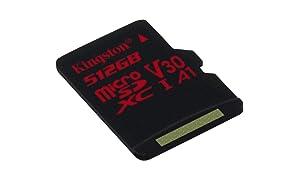 Kingston 512GB MICROSDXC Canvas React 100R/80W U3 UHS-I V30 W/O Adapter