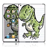 TaylorHe Vinyl Skins for iPad Air Tablet Ultra-slim Perfect Fit Made in Britain Colourful Decal With Patterns Sketched Dinosaur