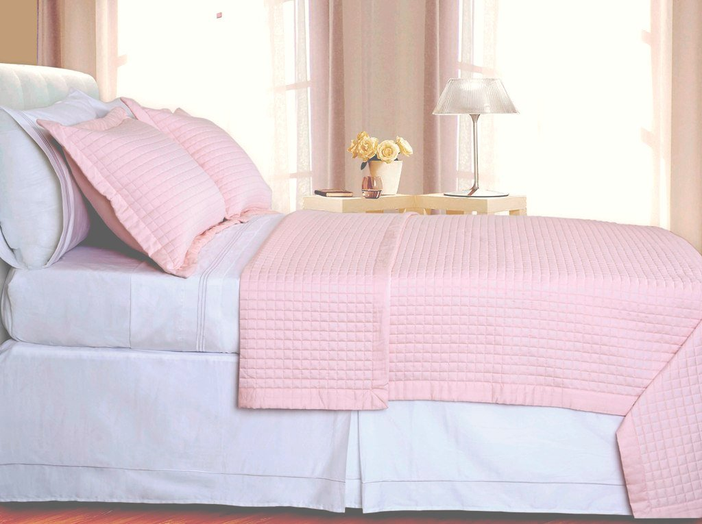 sheetsnthings Full Size 400 Thread count Blush Coverlet Set Including Matching Shams 100% Egyptian Cotton at Sears.com
