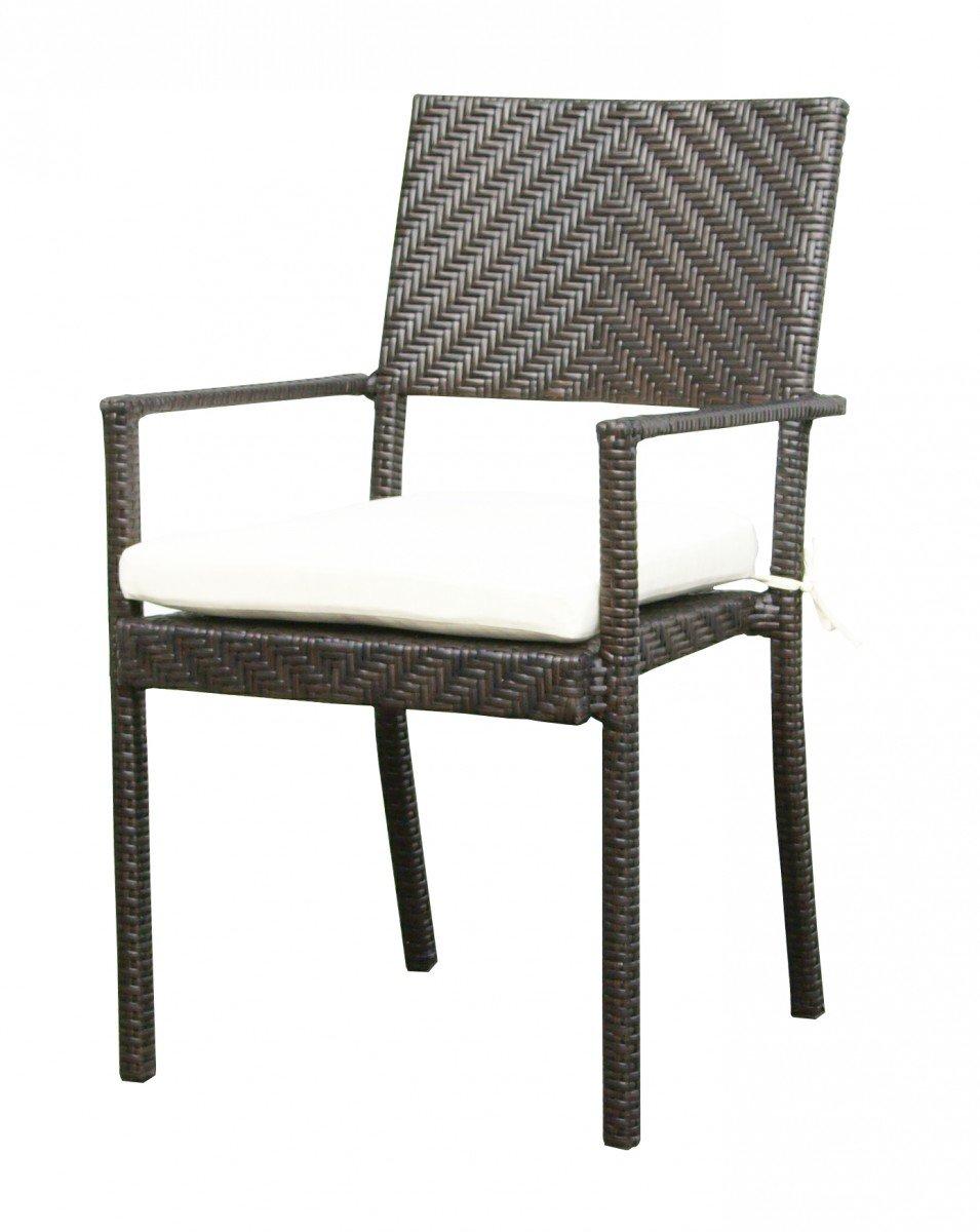 Dreams4Home Gartensessel Set 'Life' - Set, 2 Sessel, Loungesessel, inklusive Sitzkissen, Gartensessel, Gartenstuhl, Gartenmöbel, Stuhl, B/H/T: 73 x 96 x 58 cm, Rattan, hochwertiges HDPE Geflecht, Stahlestell, in mokka