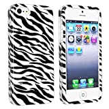 eForCity Snap-on Hard Case Cover compatible with Apple® iPhone® 5, Zebra Skin