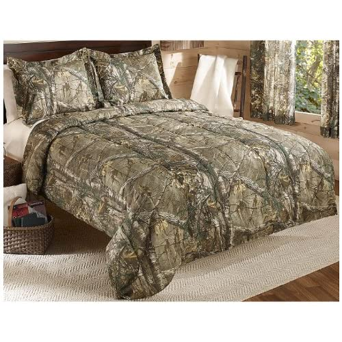 Realtree Xtra Mini Comforter Set, Twin, Tan, Camo