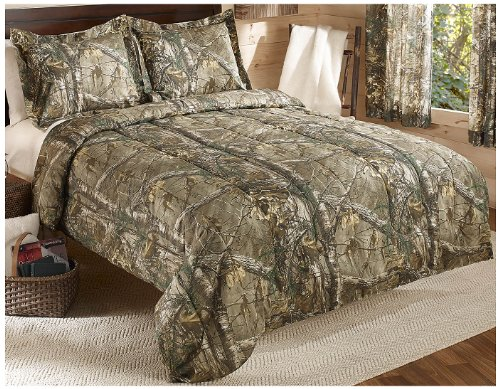 Best Review Of Real Tree Xtra Mini Comforter Set, Full, Tan, Camo